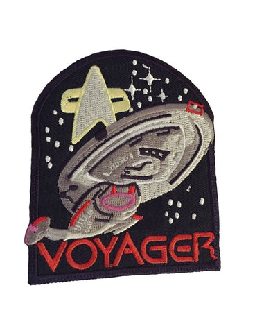 Star Trek Voyager Logo, Enterprise and Communicator All In One Iron On Patch