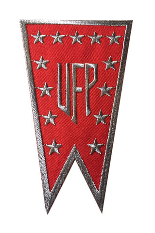 Star Trek United Federation of Planets Red Banner Logo Embroidered Iron On Patch