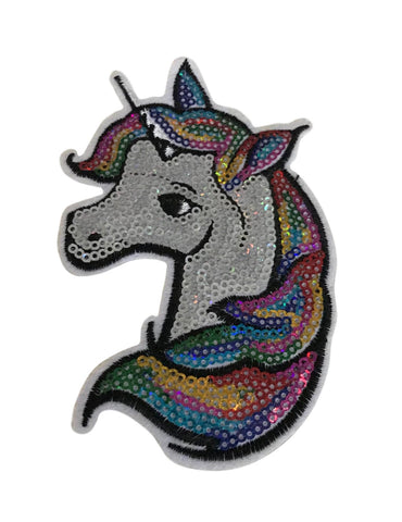 Unicorn Glitter Sparkly Cosplay 5 Inch Tall Iron On Patch