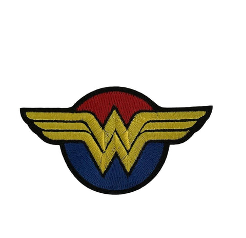 Wonder Woman Shield Colors 4 Inch Wide Iron On Cosplay Patch