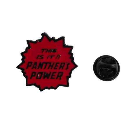 Black Panther This Is It!! PANTHER'S POWER Colored Enamel Finish Metal Pin