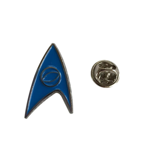 Star Trek Science Blue Enamel Finish Metal Cosplay Pin
