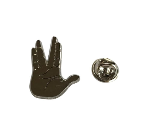 Star Trek Vulcan Live Long and Prosper Hand Symbol Metal Cosplay Pin