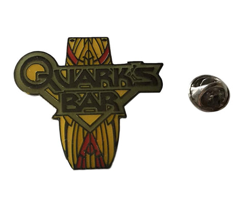 Star Trek Deep Space Nine QUARK'S BAR Logo Enamel Metal Lapel Pin