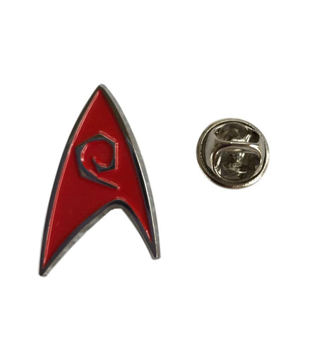 Star Trek Engineering Red Enamel Finish Metal Cosplay Pin