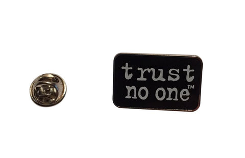 The X Files trust no one Logo Enamel Metal Pin