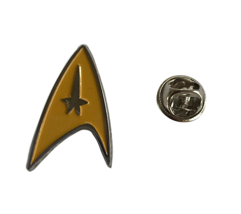 Star Trek Command Yellow Enamel Finish Metal Cosplay Pin