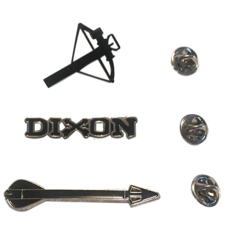 The Walking Dead Daryl Dixon Elements Metal Lapel Pin Set of 3 Cosplay Pins