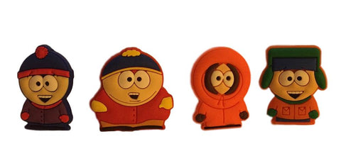 South Park Set of 4 Characters PVC Pin Set - Cartman, Kenny, Kyle and Stan