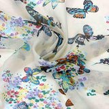 Butterflies Chiffon Scarf Print Shawl Scarf Assorted Colors and Designs