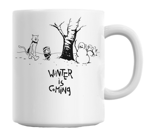 Winter Is Coming White Cute Novelty Ceramic Coffee Mug