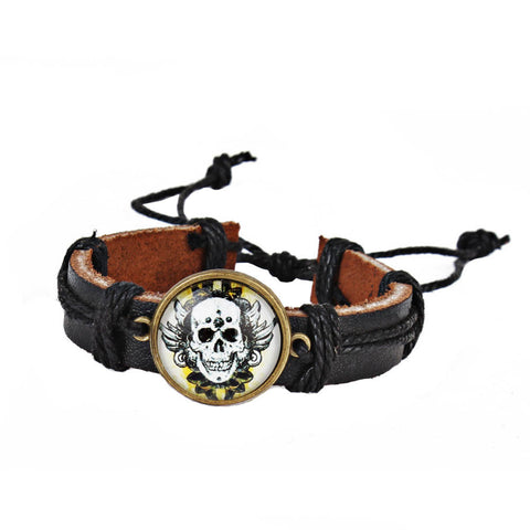 You Pick Skull Design Day Of The Dead Goth Adult Size Bracelet