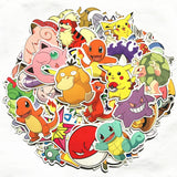 Pokemon Game and Cartoon Decal Sticker Lot of 80 Pieces