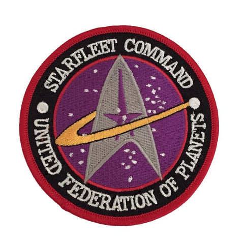 Star Trek Original Series Starfleet Command UFP Logo Embroidered Iron On Patch