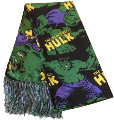 Marvel Comics The Incredible Hulk Silk Tassel Scarf