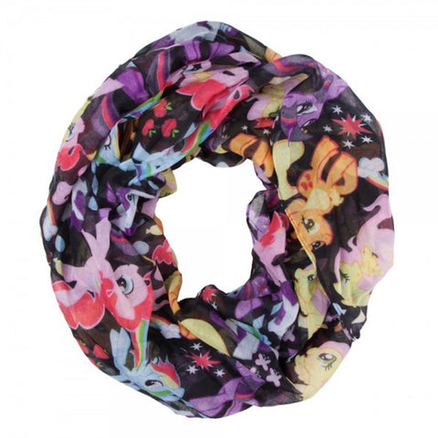 My Little Pony Lots of Ponies Print Infinity Soft Polyester Scarf
