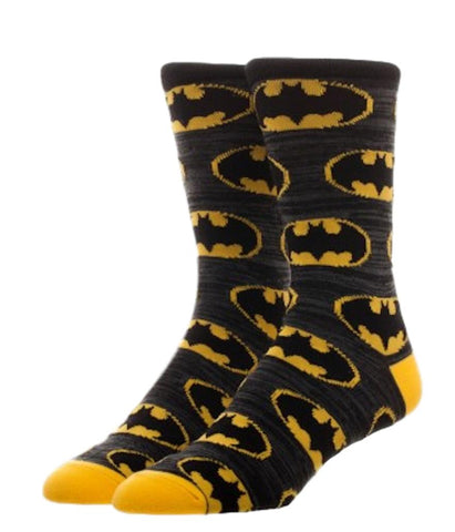 Batman Repeat Shield Crew Socks Adult Size NWT