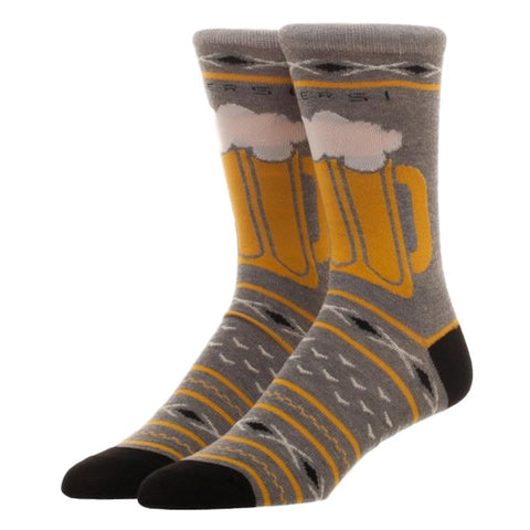 Beer Lovers Novelty Gift Crew Socks Adult Size Novelty Socks