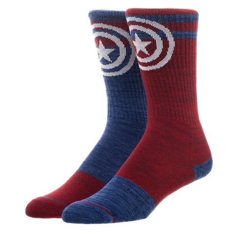 Captain America Adult Size Crew Socks