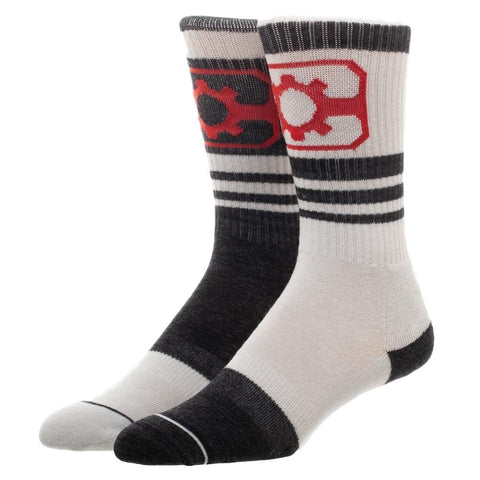Cyborg Reverse Colors Arch Support Crew Socks Adult Size