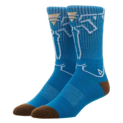 The Legend of Zelda Breath of the Wild Blue Adult Size Crew Socks