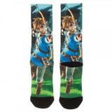 The Legend of Zelda Breath of the Wild AOP Adult Size Crew Socks