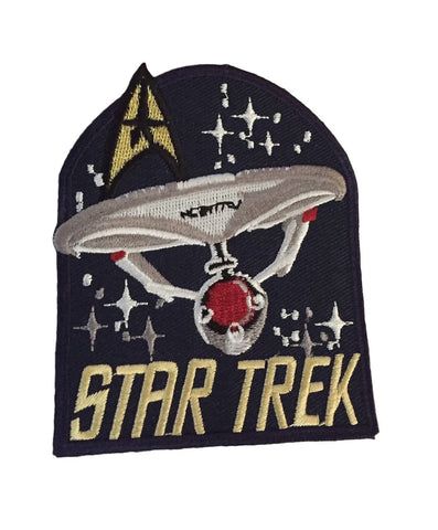 Star Trek Classic Logo, Enterprise and Command All In One Embr. Iron On Patch
