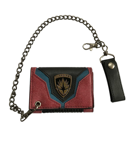 Guardians Of The Galaxy Tri Fold Snap Close Chain Wallet