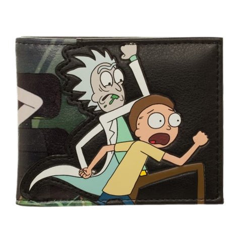 Rick and Morty AOP Black Bi-Fold Wallet Adult Swim