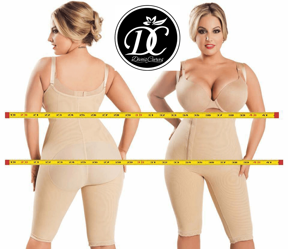 Diva's Curves Compression Shapewear Long Beige