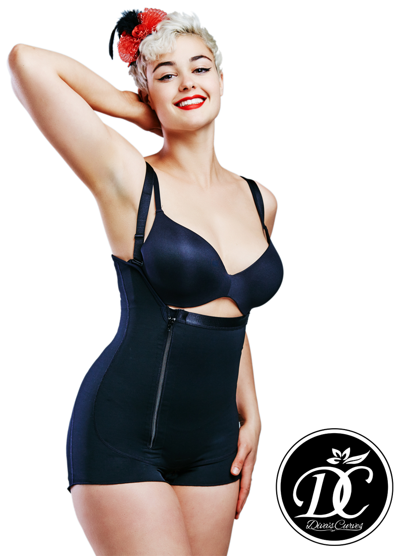 Diva's Curves Compression Shapewear Short Black