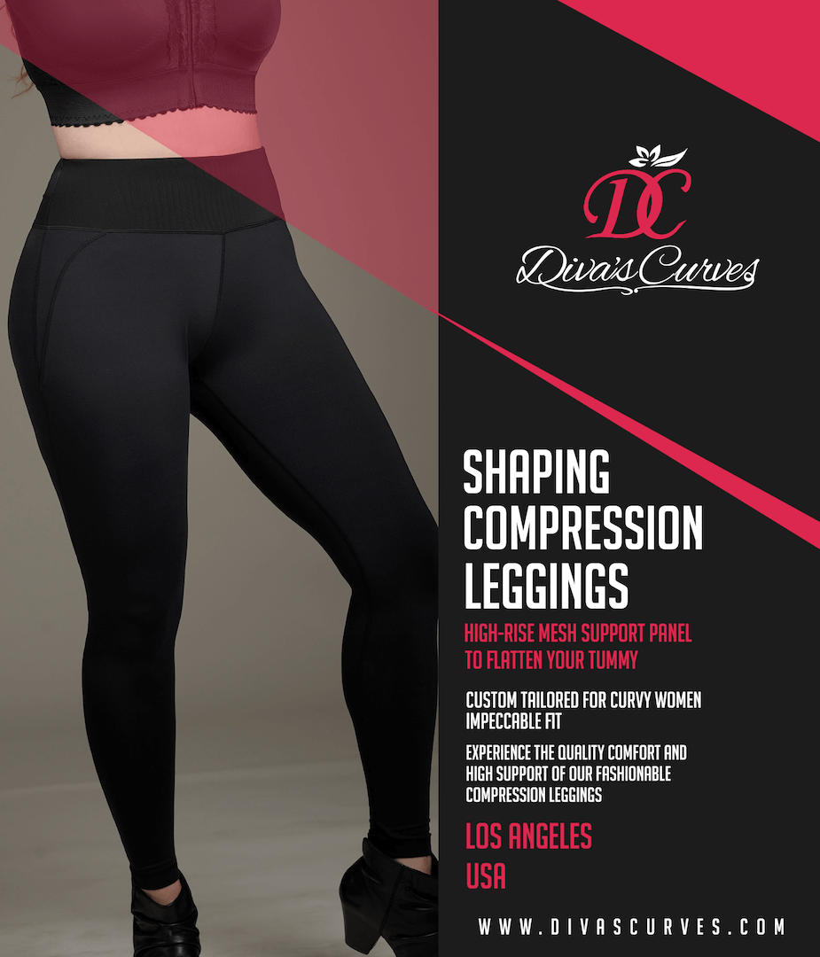 Plus Size High-End Compression Leggings  4018e7e74