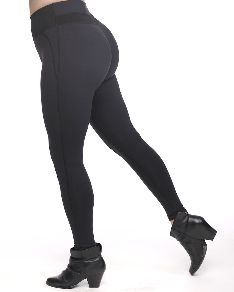 8cc367a203 Power Sculpt Shaping Compression Leggings with high- rise mesh support panel
