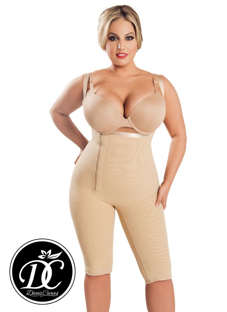 Full Body Shapewear Compression - Post Surgical Garments  – Long Beige