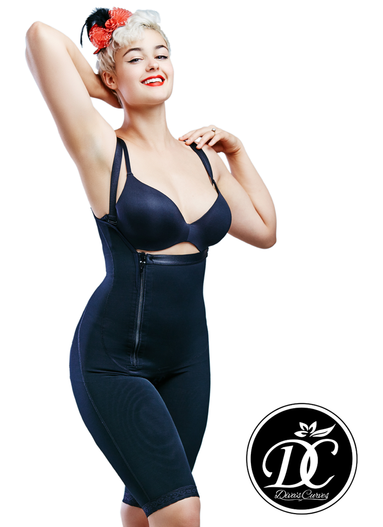 Full Body Shapewear Compression for Plus Size Women – Long Black