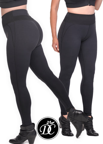 Shaping Compression Leggings with Extra High Waisted Firm Support Panel