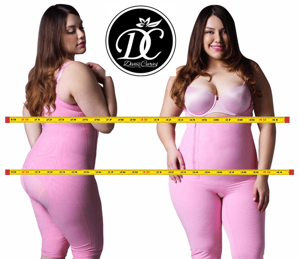 Full Body Shapewear Compression for Plus Size Women – Long Pink