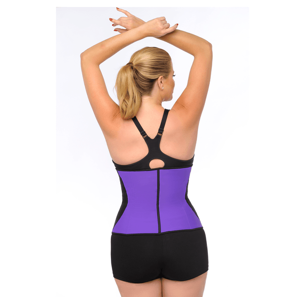 Diva's Celebrity Waist Trainer -Waist Cincher, Purple with Black Curve