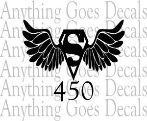 Superman Wings Decal 450 Anything Goes Decals