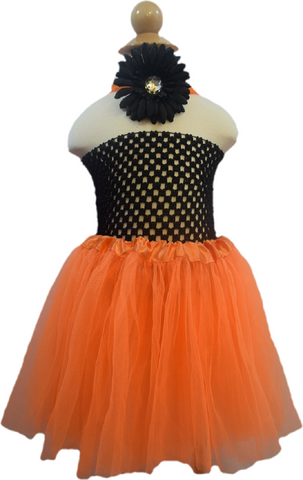 Black & Orange Tutu Set - Toddler
