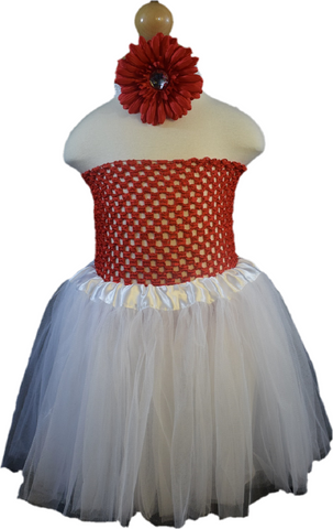 Red & White Tutu Set - Toddler