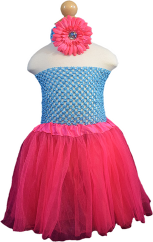 Turquoise & Hot Pink Tutu Set - Toddler