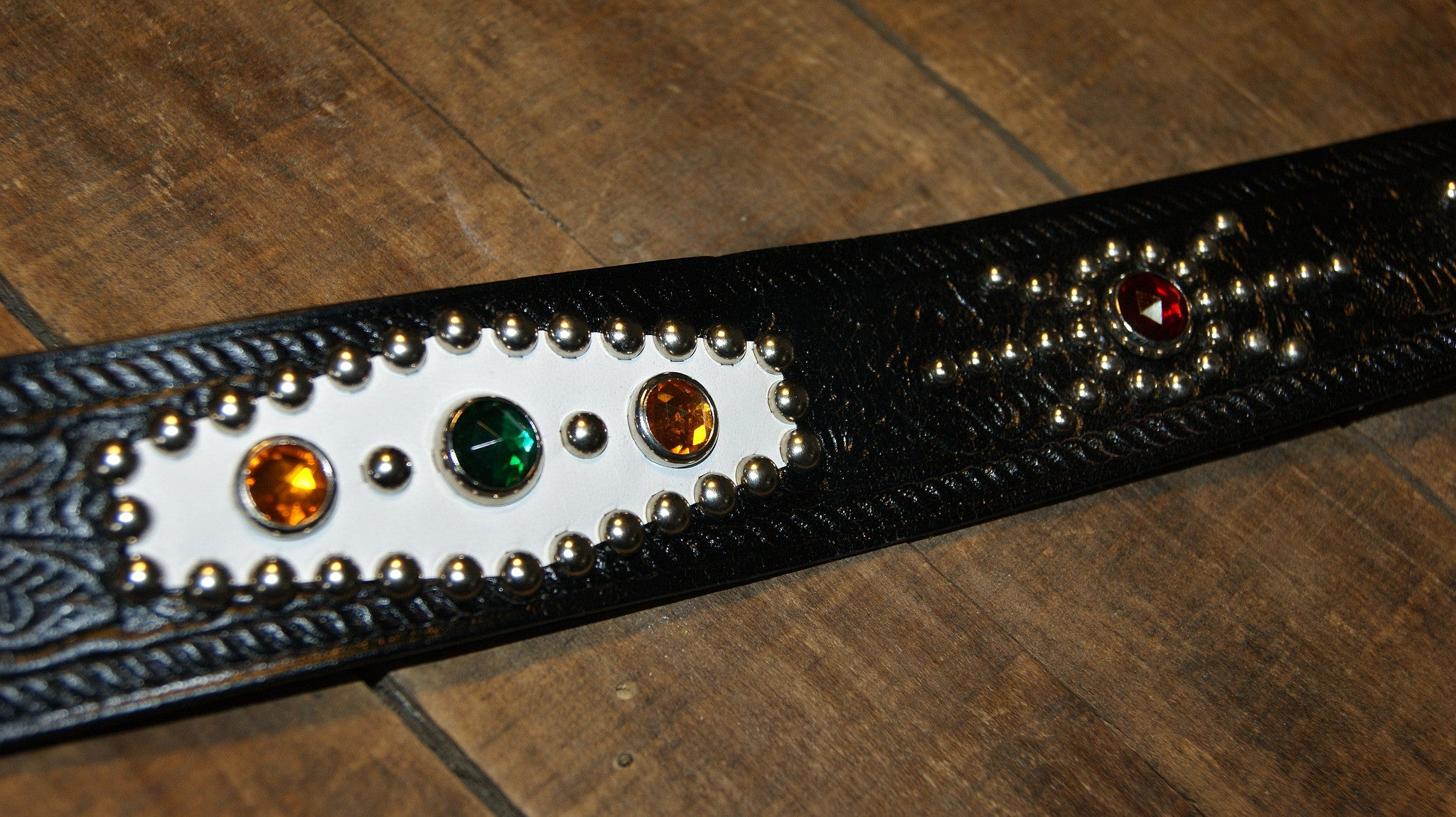 ACE Belt, jeweled, size 38, Black