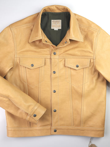 Aero 557XX Type 3 Jean Jacket, size 42, Natural Vicenza Horsehide