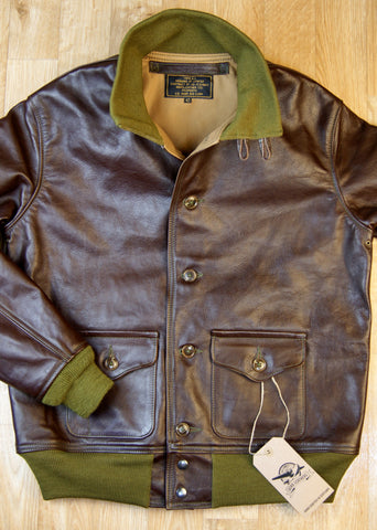 Aero A-1 Military Flight Jacket, size 42, Seal Vicenza Horsehide