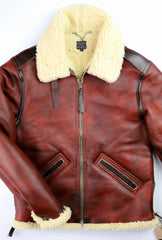 Aero B-6 Military Flight Jacket, size 38, Redskin with Dark Seal Vicenza Horsehide Trim