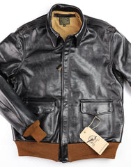 Aero A-2 Military Flight Jacket, size 40, Blackened Brown Vicenza Horsehide