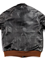 Aero A-2 Military Flight Jacket, size 42, Blackened Brown Vicenza Horsehide