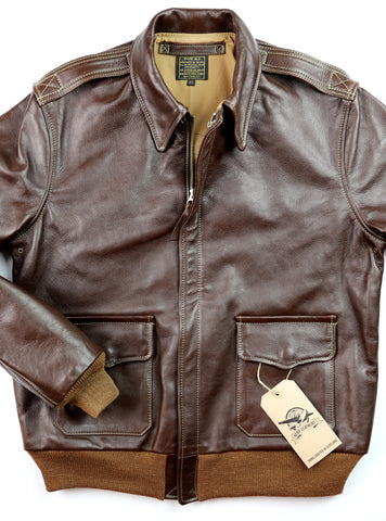 Aero A-2 Military Flight Jacket, size 42, Seal Vicenza Horsehide