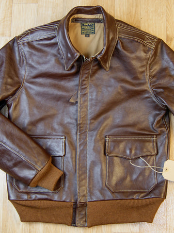 Aero A-2 Military Flight Jacket, size 38, Seal Vicenza Horsehide